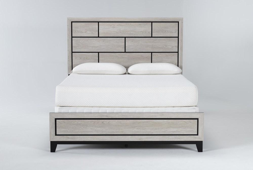 Finley White California King Panel Bed