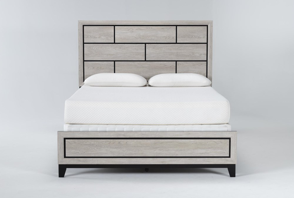 Finley White Eastern King Panel Bed
