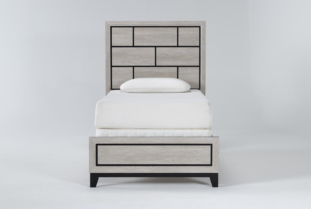 Finley White Twin Panel Bed