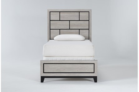 Finley White Twin Panel Bed - Main