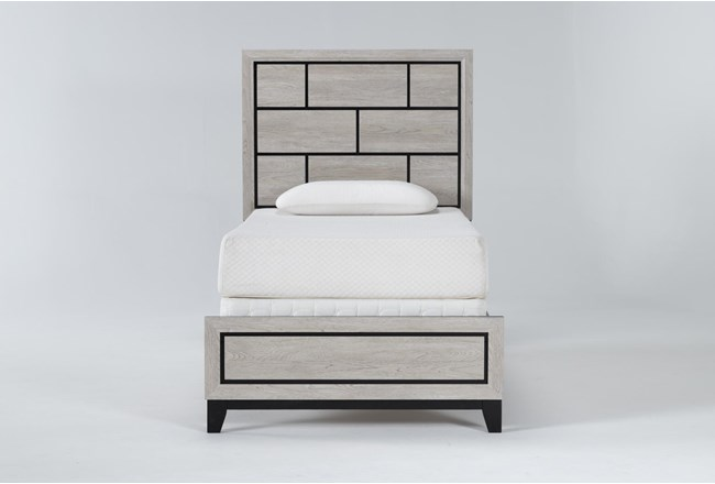 Finley White Twin Panel Bed - 360