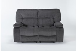 "Chadrick Grey 64"" Reclining Loveseat"