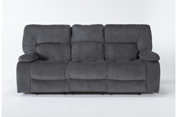 "Chadrick Grey Triple 87"" Reclining Sofa"