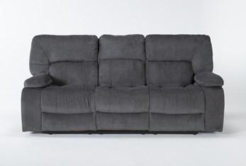 "Chadrick Grey Triple 87"" Reclining Sofa"