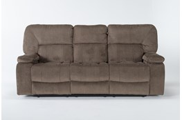 """Chadrick Brown 88"""" Reclining Sofa With Dropdown Console"""