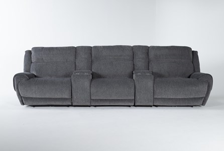 Terence Graphite 5 Piece Power Reclining Home Theater 146