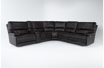 "Watkins Coffee 6 Piece Cordless 150"" Power Reclining Sectional With Power Headrest & USB"