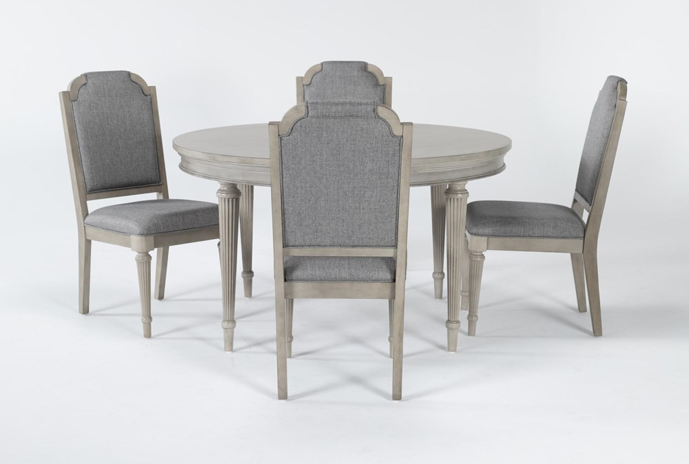 Vinesta 5 Piece Round Dining Set