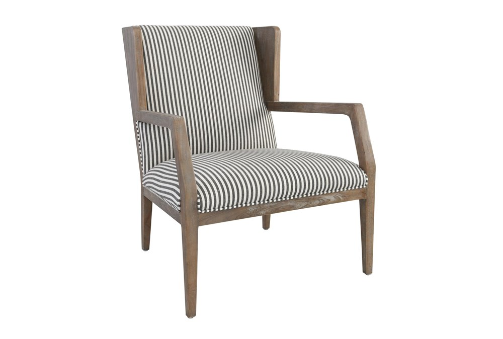 Striped Wood Accent Chair