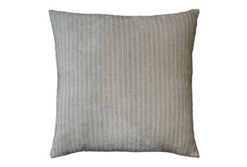 Accent Pillow - Channels  Pearl Gray 20 X 20