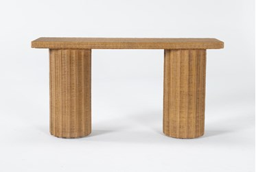 """Natural Woven 60"""" Console Table By Nate Berkus And Jeremiah Brent"""
