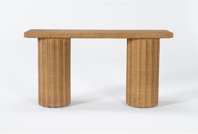 """Natural Woven 60"""" Console Table By Nate Berkus And Jeremiah Brent - 360"""