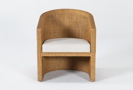 Natural Woven Curved Accent Chair By Nate Berkus And Jeremiah Brent