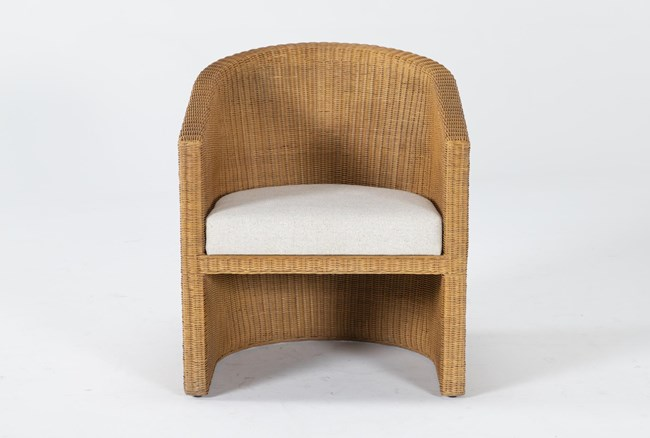 Natural Woven Curved Accent Chair By Nate Berkus And Jeremiah Brent - 360