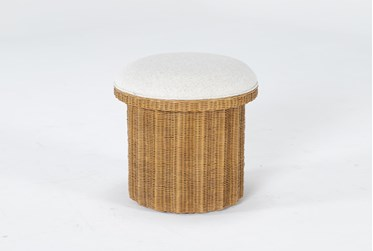 Natural Woven Accent Ottoman By Nate Berkus And Jeremiah Brent