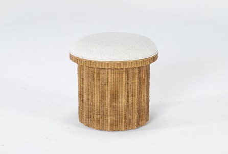 Natural Woven Accent Ottoman By Nate Berkus And Jeremiah Brent - Main