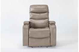 Waylan Linen Home Theater Power Wallaway Recliner With Adjustable Headrest