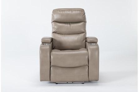 Waylan Linen Home Theater Power Wallaway Recliner With Adjustable Headrest - Main