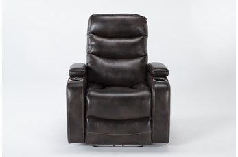 Waylan Truffle Home Theater Power Wallaway Recliner With Adjustable Headrest