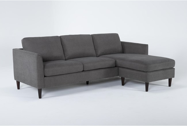 "Aya 89"" Sofa With Reversible Chaise - 360"