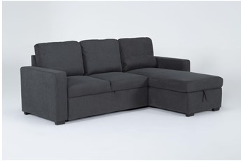 "Silva Convertible 91"" Sofa Sleeper With Storage Chaise"