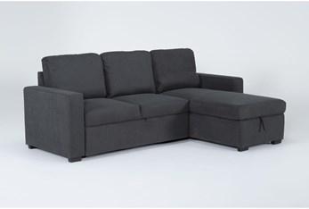 "Silva Convertible 91"" Sofa Sleeper With Storage Chaise"