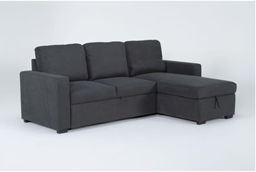"""Silva 91"""" Convertible Sofa Sleeper With Right Arm Facing Storage Chaise"""