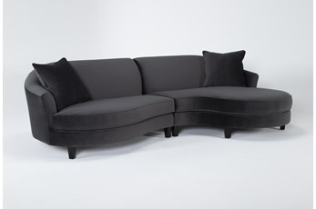 "Getty Velvet 2 Piece 116"" Sectional Right Arm Facing Chaise"