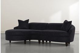 "Getty Velvet 2 Piece 116"" Sectional Left Arm Facing Chaise"