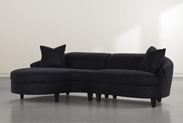 """Getty Velvet 2 Piece 116"""" Sectional Left Arm Facing Chaise"""