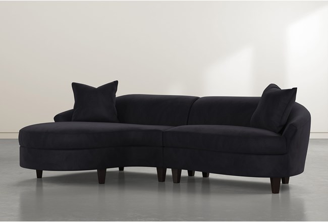 """Getty Velvet 2 Piece 116"""" Sectional Left Arm Facing Chaise - 360"""