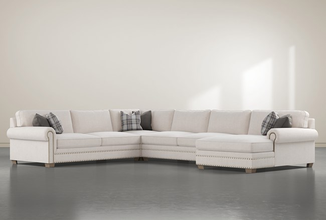 """Chesney 4 Piece 167"""" Sectional With Right Arm Facing Chaise - 360"""