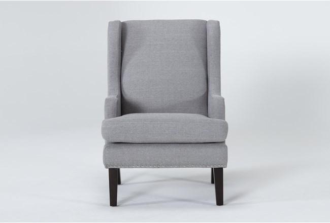 Clayton Grey Wingback Chair - 360