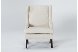 Clayton Linen Wingback Chair