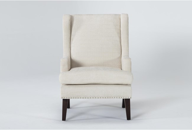 Clayton Linen Wingback Chair - 360