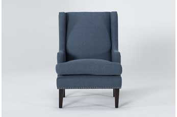 Clayton Blue Wingback Chair