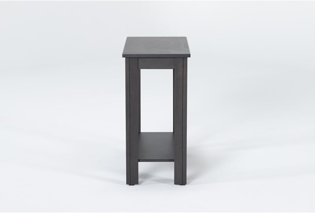 Pierce Charcoal Chairside Table - 360