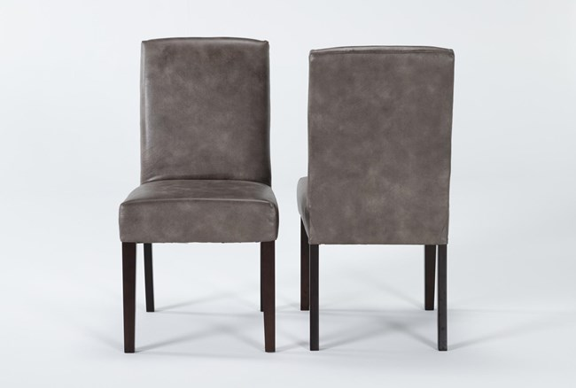 Garten Taupe Dining Side Chair With Espresso Finish Set Of 2 - 360