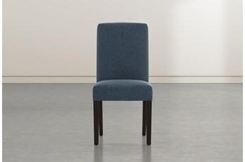 Garten Denim Dining Side Chair With Espresso Finish Set Of 2