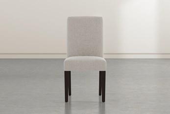 Garten Beige Dining Side Chair With Espresso Finish Set Of 2