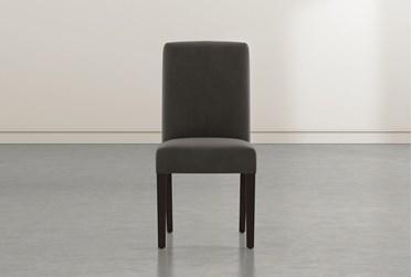 Garten Dark Grey Dining Side Chair With Espresso Finish Set Of 2