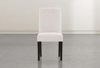 Garten Ivory Dining Side Chair With Espresso Finish Set Of 2