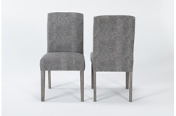 Garten Stone Dining Side Chair With Greywash Finish Set Of 2