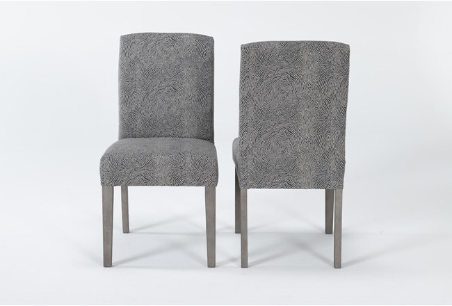 Garten Stone Dining Side Chair With Greywash Finish Set Of 2 - 360