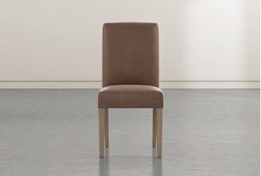 Garten Brown Dining Side Chair With Greywash Finish Set Of 2