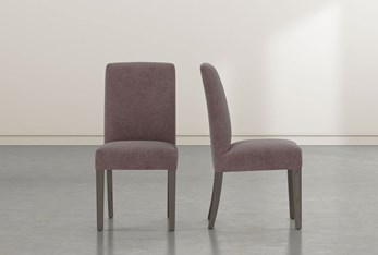 Garten Mauve Dining Side Chair with Greywash Finish Set of 2
