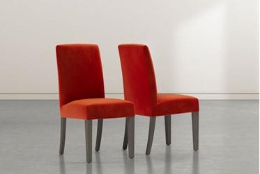 Garten Vermillion Dining Side Chair with Greywash Finish Set of 2