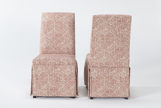 Garten Coral Skirted Dining Side Chairs Set Of 2 - 360