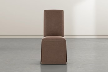 Garten Brown Skirted Dining Side Chairs Set Of 2