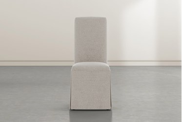 Garten Beige Skirted Dining Side Chairs Set Of 2